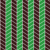 arrow - green, brown