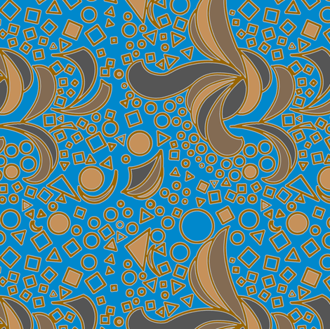 Knot So Busy - Turquoise and Browns fabric by telden on Spoonflower - custom fabric