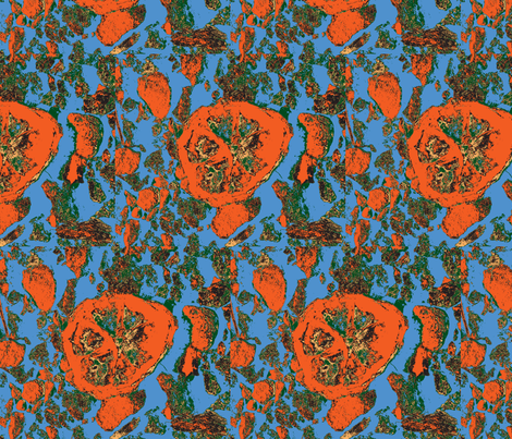 Inspired by oranges fabric by janalinde on Spoonflower - custom fabric