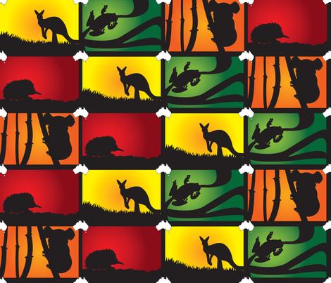 Australian Animal Adventure fabric by illustrative_images on Spoonflower - custom fabric