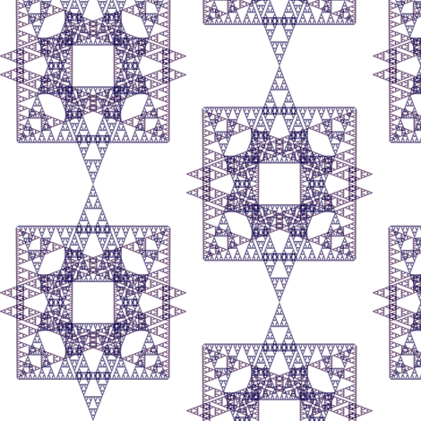 Plum Triangles, Squares and Stars Fractal - Oh, My! fabric by telden on Spoonflower - custom fabric