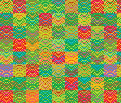 Seigaiha fabric by nekineko on Spoonflower - custom fabric