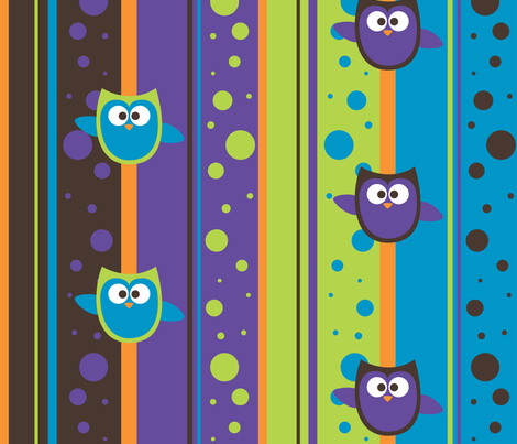 Owl Mania fabric by noukyrox on Spoonflower - custom fabric