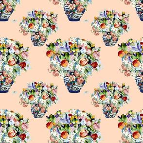 Elizabeth Wu's flowers on peach