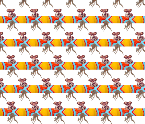 Australian_animals_textile fabric by gogo029 on Spoonflower - custom fabric
