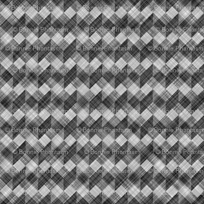 Argyle Checker Plaid Linen - Black White
