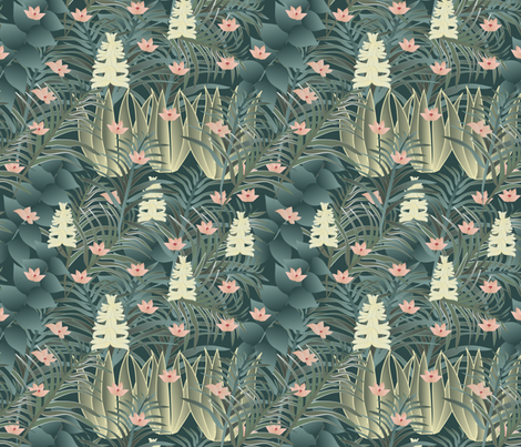 jungle 1 fabric by kociara on Spoonflower - custom fabric