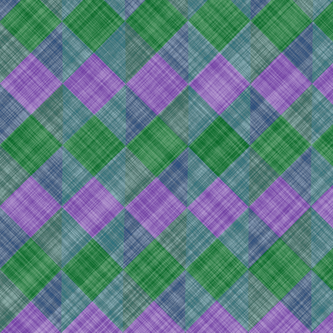 Argyle Checker Plaid Linen - Lavender Green fabric by bonnie_phantasm on Spoonflower - custom fabric