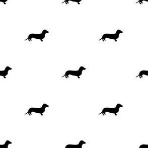 Dachshund Dots Black