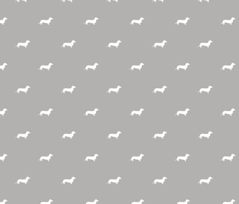 Dachshund Dots Grey fabric by ben_goetting on Spoonflower - custom fabric