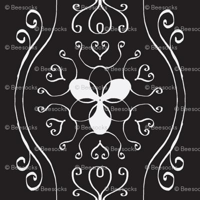 Delicate Wavy Stripe - Black and White