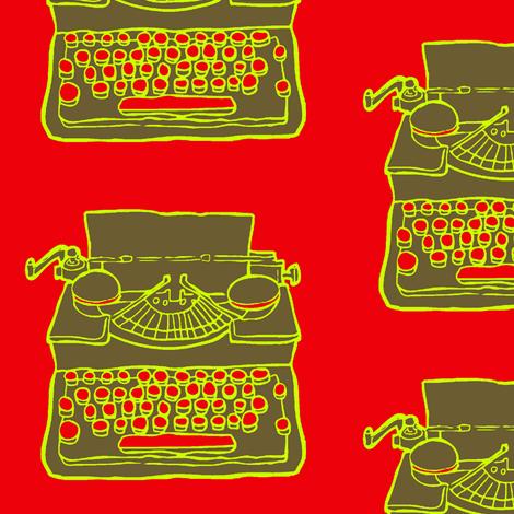 typewriter fabric by looksey+howe on Spoonflower - custom fabric