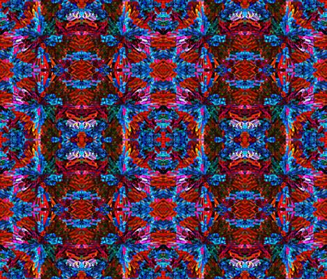 Rainbow Explosion Yarn (mirror repeat) fabric by anniedeb on Spoonflower - custom fabric