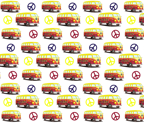 PEACE AND LOVE AND CAMPING fabric by bluevelvet on Spoonflower - custom fabric