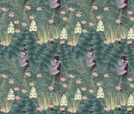 koala fabric by kociara on Spoonflower - custom fabric