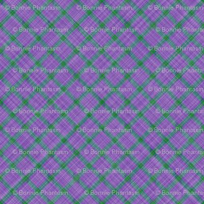 Grid Plaid Linen - Lavender Green