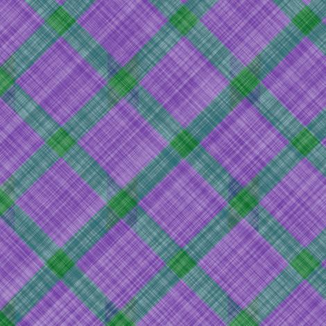 Grid Plaid Linen - Lavender Green fabric by bonnie_phantasm on Spoonflower - custom fabric
