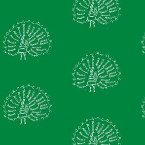 Peacock Calligram