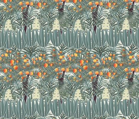 orange tree 4 fabric by kociara on Spoonflower - custom fabric