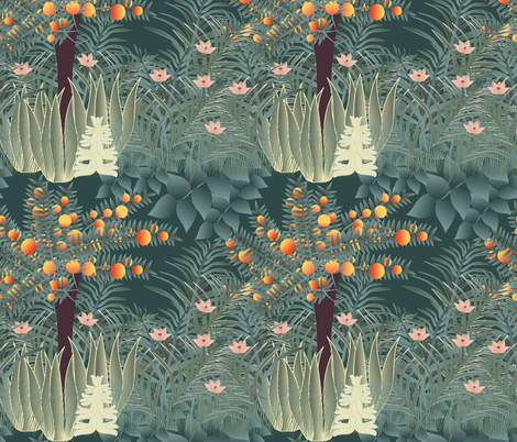 orange tree 2 fabric by kociara on Spoonflower - custom fabric