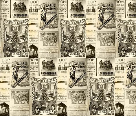 German Advertisements: Small Off-White fabric by callioperosehandcarjones on Spoonflower - custom fabric
