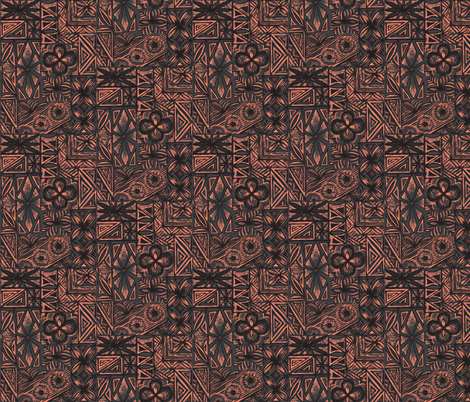 Kalakaua Ave  crusted conch fabric by sophista-tiki_by_dawn_frasier on Spoonflower - custom fabric