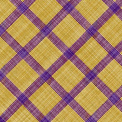 Grid Plaid Linen Purple Yellow Fabric Bonnie Phantasm