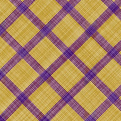 Grid Plaid Linen - Purple Yellow fabric by bonnie_phantasm on Spoonflower - custom fabric