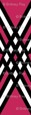 Diamond and Pink Stripe