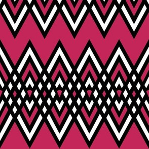 Diamond and Pink Stripe