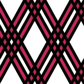 Diamond and Pink Plaid