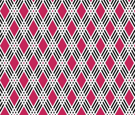 Diamond & Pink Plaid fabric by pond_ripple on Spoonflower - custom fabric