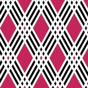 Diamond & Pink Plaid