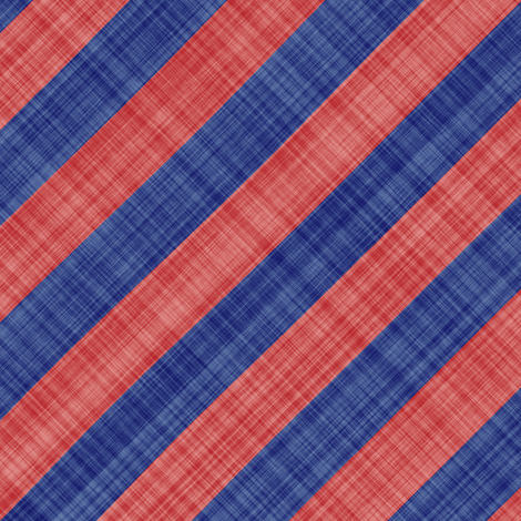 Diagonal Linen Stripe - Blue Red fabric by bonnie_phantasm on Spoonflower - custom fabric