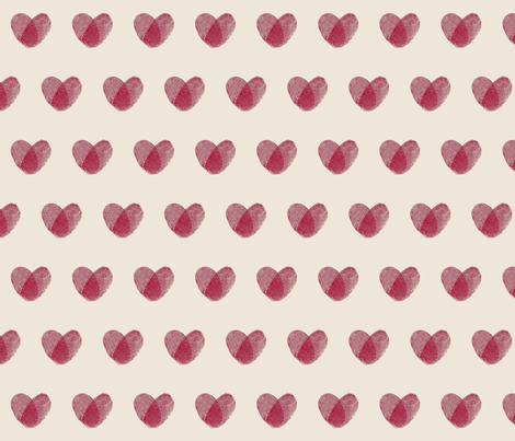 Fingerprint Hearts fabric by mnshimamura on Spoonflower - custom fabric