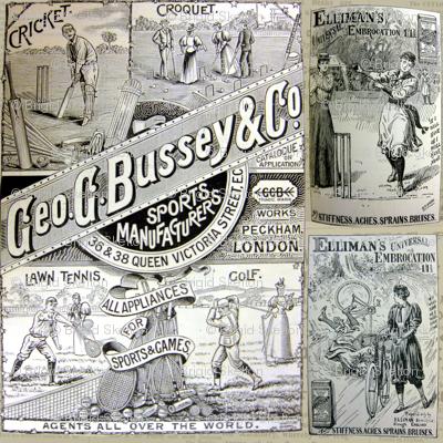 1890's Sports Ads: Newsprint Large