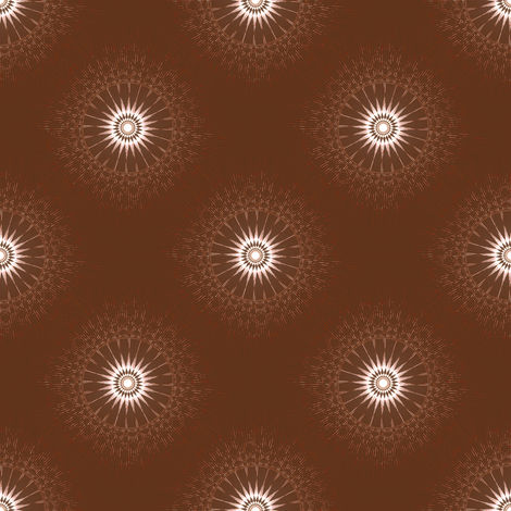 Glowies - Chocolate fabric by telden on Spoonflower - custom fabric