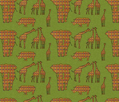 Africa fabric by mammajamma on Spoonflower - custom fabric