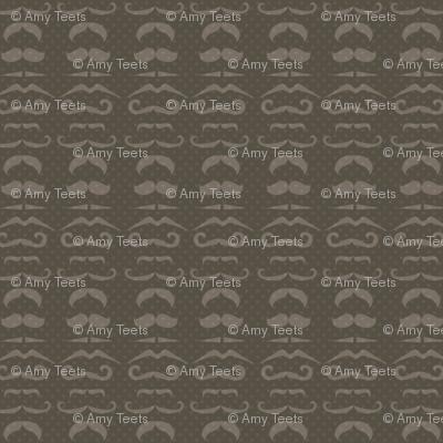 Dark Gray Mustache Fabric