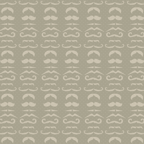 Gray Mustache Fabric fabric by amyteets on Spoonflower - custom fabric