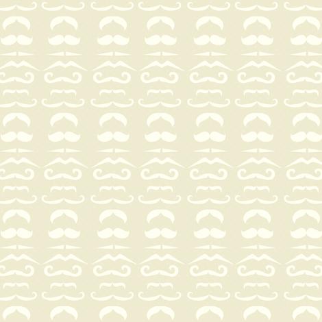 Cream Mustache Fabric fabric by amyteets on Spoonflower - custom fabric