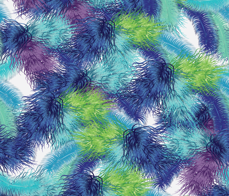 party feathers 2 fabric by kociara on Spoonflower - custom fabric