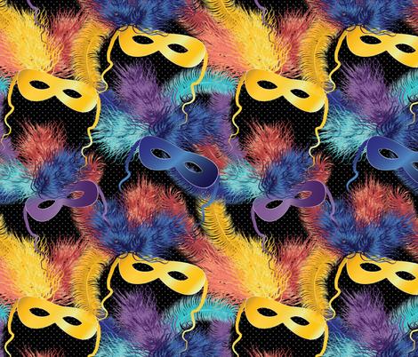 party masks fabric by kociara on Spoonflower - custom fabric