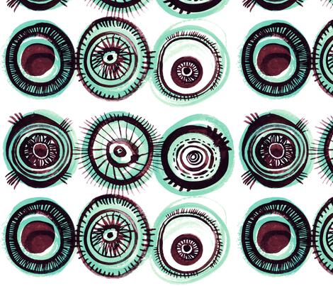 Fischaugen (Fish Eyes) in ocean fabric by atelierk on Spoonflower - custom fabric