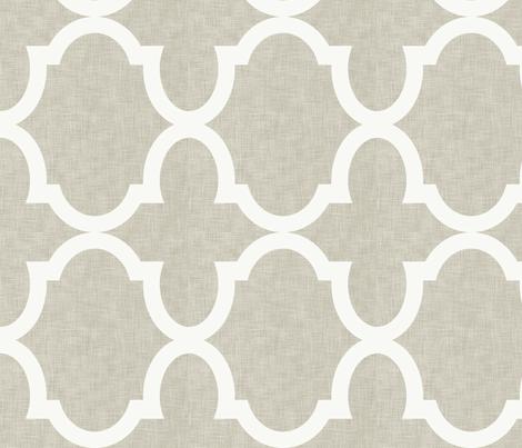 Chloe Linen White fabric by crisbucknall on Spoonflower - custom fabric