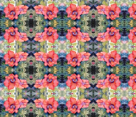 Poppy Time fabric by engelstudios on Spoonflower - custom fabric