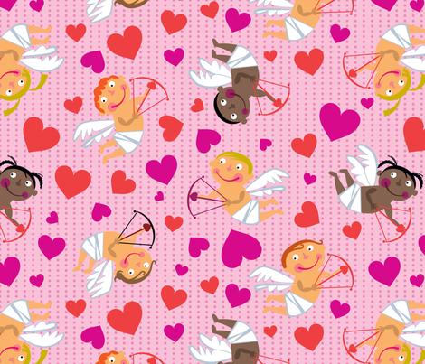 Cute Cupids fabric by edward_elementary on Spoonflower - custom fabric