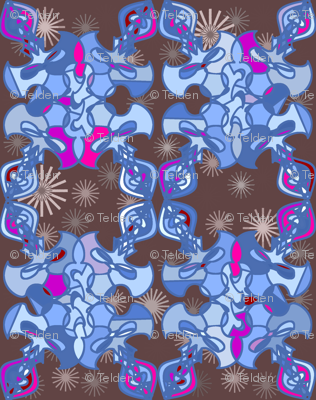 Damask Flourish - Blue