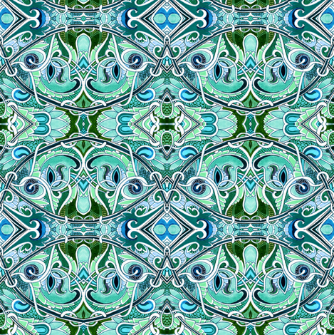 Totally Teal fabric by edsel2084 on Spoonflower - custom fabric