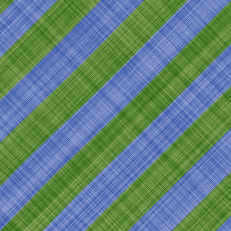 Diagonal Linen Stripe - Green Blue fabric by bonnie_phantasm on Spoonflower - custom fabric